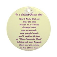 Special Flower Girl Ornament (Round)