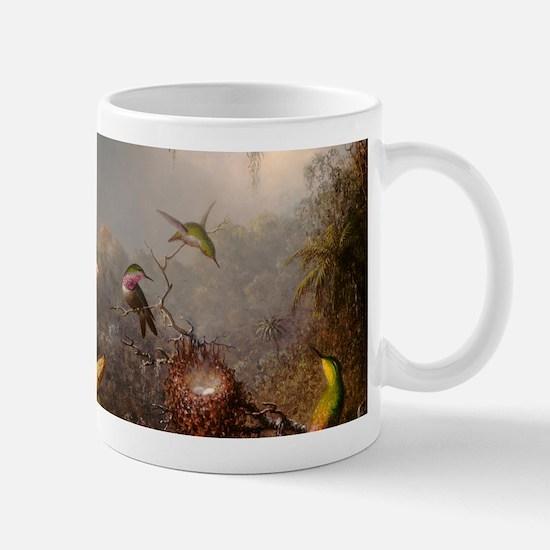 Cattleya Orchis and Three Hummingbirds Mugs