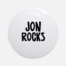 Jon Rocks Ornament (Round)