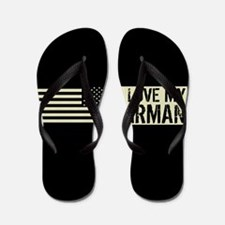 U.S. Air Force: I Love My Airman (Black Flip Flops