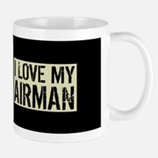 U.S. Air Force: I Love My Airman (Black Mug