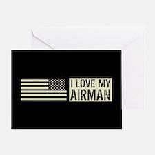 U.S. Air Force: I Love My Airman (Bl Greeting Card