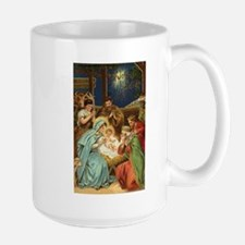 Nativity Scene with Three Kings Mugs
