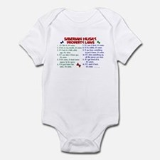 Siberian Husky Property Laws 2 Infant Bodysuit