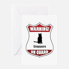 Singapura On Guard Greeting Card