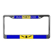 Barbados Blank Flag License Plate Frame