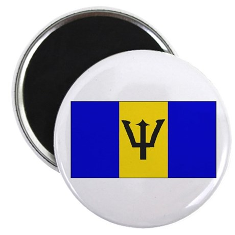 "Barbados Blank Flag 2.25"" Magnet (10 pack)"