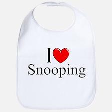 """I Love Snooping"" Bib"