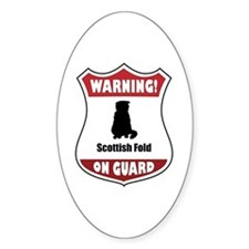 Fold On Guard Oval Decal