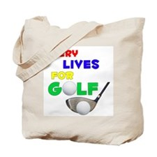 Emery Lives for Golf - Tote Bag