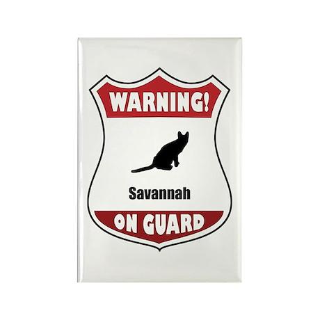 Savannah On Guard Rectangle Magnet