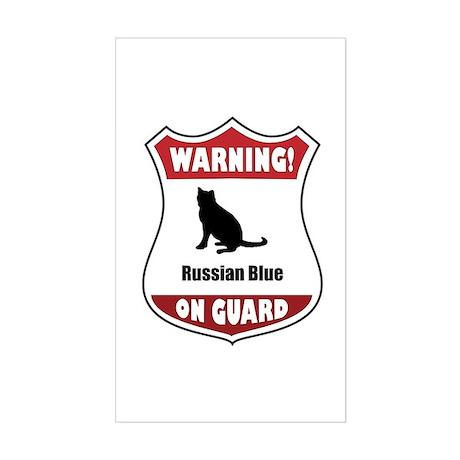 Blue On Guard Rectangle Sticker