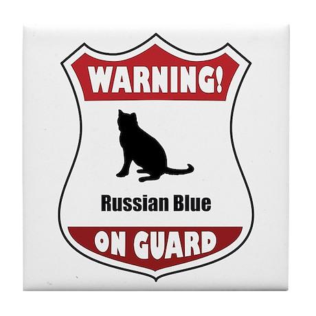 Blue On Guard Tile Coaster