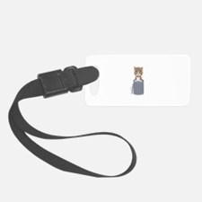Cute Cat In the trash can Luggage Tag