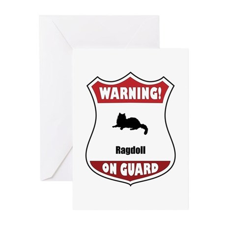 Ragdoll On Guard Greeting Cards (Pk of 10)