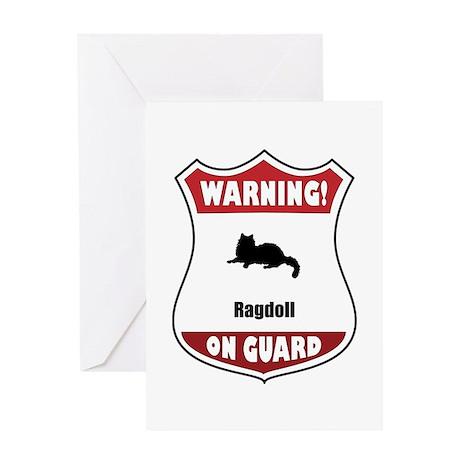 Ragdoll On Guard Greeting Card