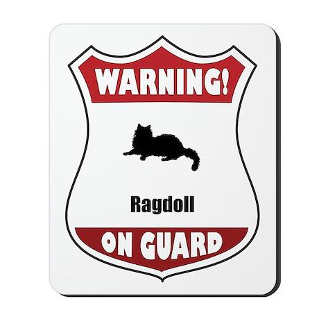 Ragdoll On Guard Mousepad