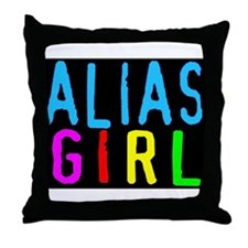 Funny Alia Throw Pillow