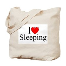 """I Love Sleeping"" Tote Bag"