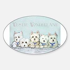 Westie Wonderland Oval Decal