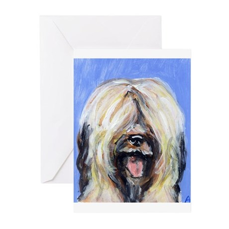 BRIARD Adorable portrait Desi Greeting Cards (Pack