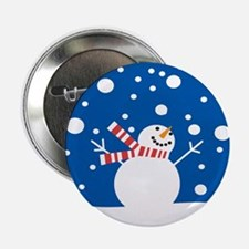 """Holiday Snowman 2.25"""" Button"""