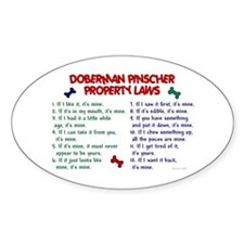 Doberman Property Laws Oval Decal