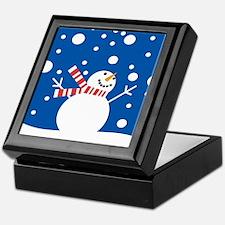 Holiday Snowman Keepsake Box