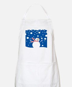 Holiday Snowman BBQ Apron