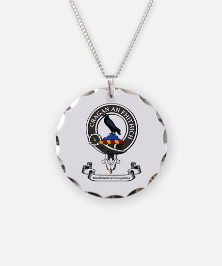 badge-MacDonellGlengarry Necklace Circle Charm