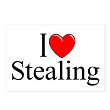 """""""I Love Stealing"""" Postcards (Package of 8)"""