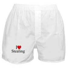 """I Love Stealing"" Boxer Shorts"