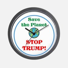 Save the planet...stop Trump Wall Clock