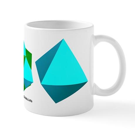 Cube-Octa Triple Mug
