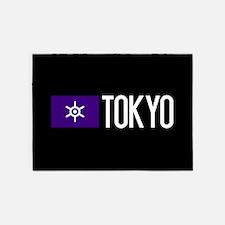 Tokyo: Tokyo Metropolis Flag & Toky 5'x7'Area Rug