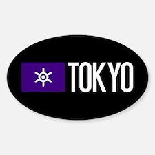 Tokyo: Tokyo Metropolis Flag & Toky Sticker (Oval)