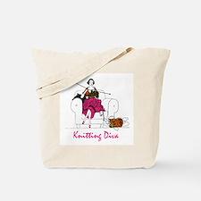 Cute Vintage knitting Tote Bag
