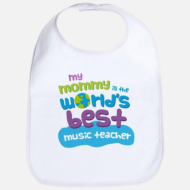 Music Teacher Gift for Kids Baby Bib