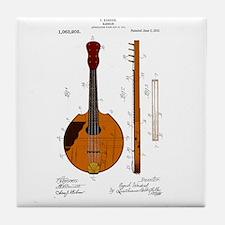Mandolin Patent Tile Coaster