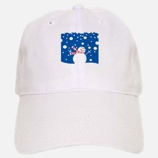 Holiday Snowman Baseball Baseball Cap