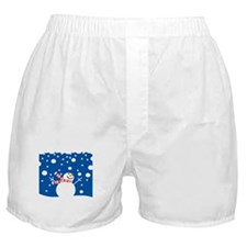 Holiday Snowman Boxer Shorts