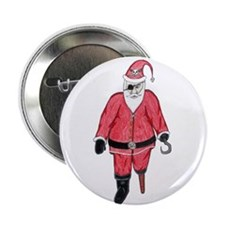 "Pirate Santa 2.25"" Button (100 pack)"