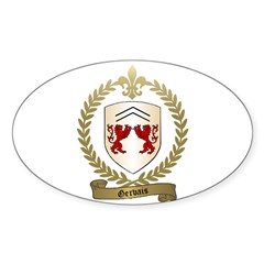 GERVAIS Family Crest Oval Decal