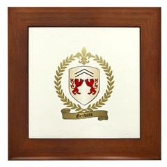 GERVAIS Family Crest Framed Tile