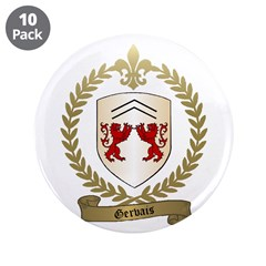 """GERVAIS Family Crest 3.5"""" Button (10 pack)"""