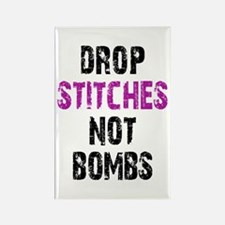 Drop Stitches not Bombs Rectangle Magnet (10 pack)