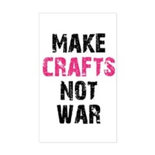 Make Crafts Not War Rectangle Decal