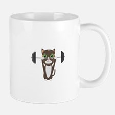 Fitness cat weight lifting Mugs