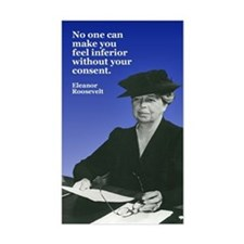 ELEANOR ROOSEVELT Rectangle Decal