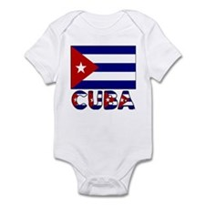 Cuba Word and Flag Infant Creeper